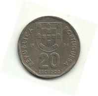 1986 - Portogallo 20 Escudos, - Portogallo