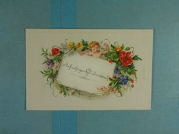 Mignonette Fleurs Relief Angelot Aufrichtigen Gluckwunsch - Fleurs