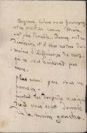 Lettre Anonyme Pour Maire De Troyes Mr Argence Non Affranchie Et Taxée YT Taxe N°2 1861 Texte Amusant 10 Aube - 1849-1876: Classic Period