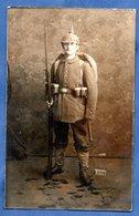 Carte Photo  --  Soldat Allemand En Uniforme  - - Guerre 1914-18