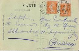 CONVOYEUR LACANAU BORDEAUX 1922 - Postmark Collection (Covers)