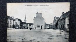 CPA MATIGNON Cote Du Nord La Place Des Halles Animée Ecrite - Otros Municipios
