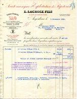 ANGOULEME.SOCIETE ANONYMES D'EXPLOITATION DES PAPETERIE.PAPIERS A CIGARETTES L.LACOIX FILS. - Imprimerie & Papeterie