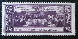 ROYAUME - SIGNATURE DU TRAITE ANGLO-EGYPTIEN 1937 - OBLITERE - YT 18185 - Egypt