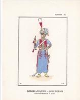 7 MAGNIFIQUES PLANCHES UNIFORMOLOGIQUE TARTARES LITHUANIENS / GARDE I / COLOREES A LA MAIN / TRES BEAU PAPIER  / RARE ++ - Uniforms