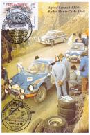 Carte Maximun - Alpine Renault A110, Rallye Monte-Carlo 1969/Fête Du Timbre 2018 à Lacrost (71) JCL Andruet - J Vinatier - Cartes-Maximum