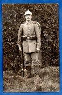 Carte Photo  --  Soldat Allemand En Uniforme  - - War 1914-18
