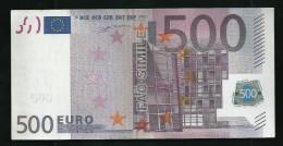"500 EURO ""FAC SIMILE"", Ca. 164 X 81 Mm, RRRRR, 1997/98, Used, Test Note? Educativ Money. - Sonstige"