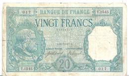 20F Bayard 1917 - 1871-1952 Circulated During XXth