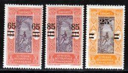 Dahomey 1922 Yvert 67 / 69 * TB Charniere(s) - Unused Stamps