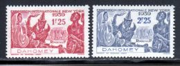 Dahomey 1939 Yvert 113 / 114 * B Charniere(s) - Unused Stamps