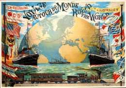 Publicité  - Voyage Autour Du Monde - Cie Générale Transatlantique - Repro - SC73-5 - Werbepostkarten