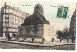 ***  75  ***  PARIS  Lion De Belfort Colorisé TTB - France