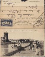 Carte Lettre Double Vue Sables D'Olonne Vendée Sablaise Attendant Retour Pêcheur Et Gouffre Puits D'Enfer YT Ae 6 1935 - France