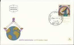 Israel. FDC, Estación Terrestre Para Satélites. - Telecom