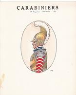 12 MAGNIFIQUES PLANCHES UNIFORMOLOGIQUE CARABINIERS / COLOREES A LA MAIN / TRES BEAU PAPIER  / RARE ++ - Uniforms