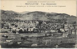 Macédoine - Campagne D'Orient 1914-17 - Monastir - Vue Générale - Macédoine