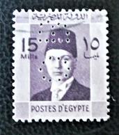 ROYAUME - ROI FAROUK 1937/44 - OBLITERE - YT 194 -TIMBRE PERFORE - Egypt