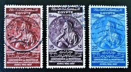 ROYAUME - CONFERENCE DE MONTREUX ABOLITION DES CAPITULATIONS 1937 - OBLITERES - YT 196/98 - MI 234/36 - Egypt