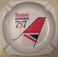 Cendrier Publicitaire British Airways 757 De Marque MEBEL Made In Italy - Ashtrays