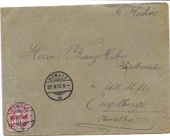 20 - 15 - Enveloppe Avec Superbes Cachets à Date D'Uznach 1893 - 1882-1906 Armoiries, Helvetia Debout & UPU