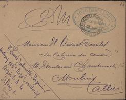 Guerre 14 Cachet Détachement Militaire St Rémy En Provence Dépôt Fermé Alsaciens Lorrains FM 1917 Pour Moulins Allier - Postmark Collection (Covers)