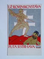 Prima Guerra Pubblicitaria Pubblicita Militare Cechi Legione 1918 PAMATNIK ODBOJE OFFICIELNI DOPISNICE 53 Preissig - Italia