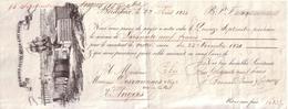 GIRONDE - BORDEAUX -  ENTÊTE LITHOGRAPHIE - J. BERMOND JEUNE & FILS AINE , VINS , RHUMS ANGLAIS , LIQUEURS - 1833 - Lettres De Change