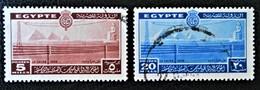 ROYAUME - CONGRES DES TELECOMS 1938 - OBLITERES  - YT 206 + 208 - MI 244 + 246 - Egypt