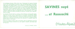 Carte Dépliante 3 Volets : Savines Noyé  .. Et Ressuscité - France