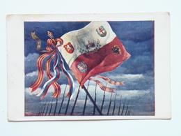 Prima Guerra 1013 Pubblicitaria Pubblicita Militare Cechi Legione 1918 PAMATNIK ODBOJE - Patriottiche