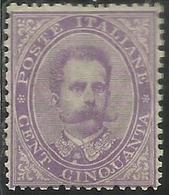 ITALIA REGNO ITALY KINGDOM 1879 EFFIGIE RE UMBERTO I CENT. 50c DISCRETAMENTE CENTRATO MNH - Mint/hinged