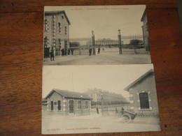 2 CPA De REIMS -  Caserne Neufchatel :artillerie / Quartier Jeanne D'Arc : Caserne Dragons - Reims
