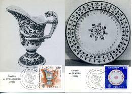 EUROPA CEPT FRANCE 1976 CARTE MAXIMUM YVERT N° 1877-78 - 1976