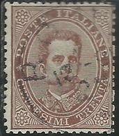 ITALIA REGNO ITALY KINGDOM 1879 EFFIGIE RE UMBERTO I CENT. 30c USATO USED OBLITERE' FIRMATO SIGNED - Usati