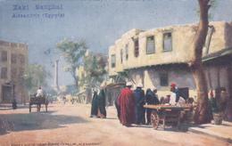 CPA - Alexandria - Street Scene Near Pompeys Pillar - 1905 - état Moyen - Alexandrie