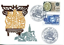 EUROPA CEPT FRANCE 1982 CARTE Postale YVERT N° 2207/2208 Faits Historiques - Europa-CEPT