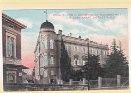CROATIA  PULA 1916 POLA BEZIRKSHAUPTMANNSCHAFT CAPITANATO DISTRETTUALE K.U.K. POSTCARD - Kroatien