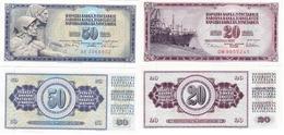 Yugoslavia - 20 + 50 Dinara 1978 / 1968 UNC Ukr-OP - Yugoslavia