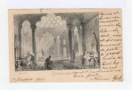 Sur Carte Postale Type Sage 10 C. Noir Et Lilas CAD Contantinople 1900. CAD Valence S Rhône . (2831) - 1858-1921 Empire Ottoman