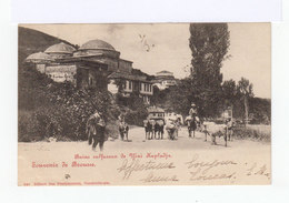 Sur Carte Postale Type Sage 5 C. Vert CAD Contantinople 1902 .  Destination: Valence.(2832) - 1858-1921 Empire Ottoman