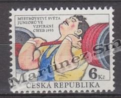 Czech Republic - Tcheque 1993 Yvert 8 Weightlifting Junior World Championships - MNH - República Checa