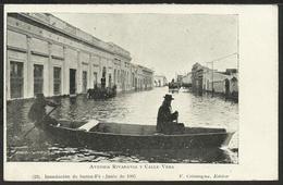 ARGENTINA: Inundacion De SANTA FÉ - Avenida Rivadavia Y Calle Vera - Junio De 1905 - Argentine