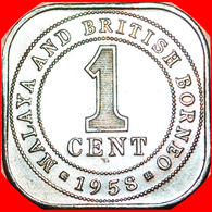 √ GREAT BRITAIN: MALAYA AND BRITISH BORNEO ★ 1 CENT 1958! LOW START ★ NO RESERVE! - Malesia
