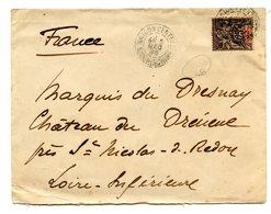 Indochine - N°10 - Lettre De Saigon - 2 Scans - (A107) - Indochina (1889-1945)