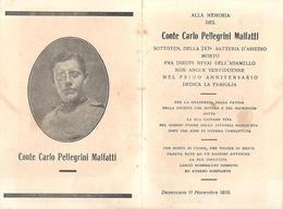 LUTTINO - CONTE CARLO  PELLEGRINI MALFATTI - 1918 - Mm. 75 X 111 - SOTTOTEN. 243 BATTERIA D'ASSEDIO - ADAMELLO - Religion & Esotérisme