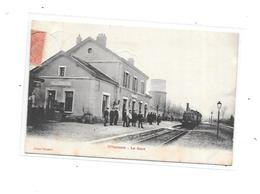 10 - VILLENAUXE : La Gare, Train, Thème Chemin De Fer - France