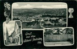 AK Stadecken-Elsheim, Gesamtansicht, Langgasse, Um 1960, Rechte Hälfte Rückseite überklebt (30223) - Allemagne