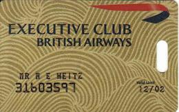 British Airways, South Africa Executive Club  Card, - Moteurs