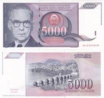 Yugoslavia - 5000 Dinara 1991 UNC Pick 111 Ukr-OP - Yugoslavia